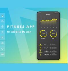 Fitness app parameter monitor ui design concept vector