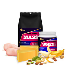 Fitness sport nutrition realistic vector