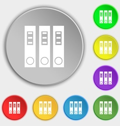 Folder icon sign Symbol on eight flat buttons vector