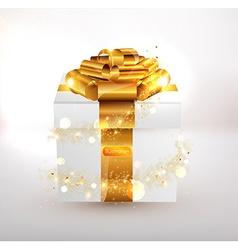 Gold present design vector