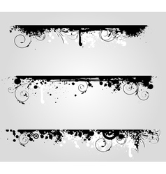 grunge lines vector image
