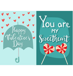 happy valentines day greeting cards vector image