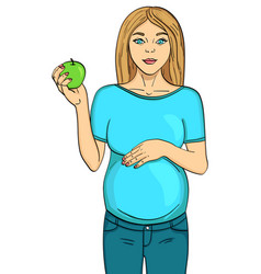 isolated object on white background pregnant vector image