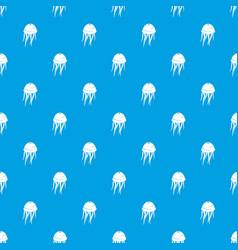 jellyfish pattern seamless blue vector image