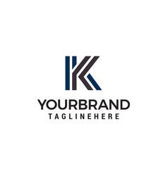 letter k tecnology logo design concept template vector image