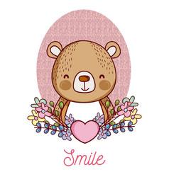 lovely bear cartoon vector image