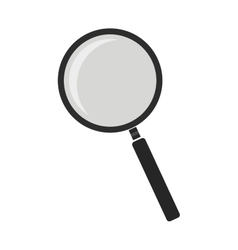Magnifying glass tool no outline vector