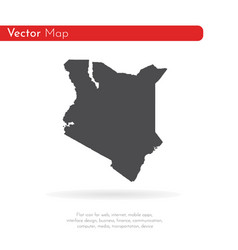 map kenya isolated black on vector image