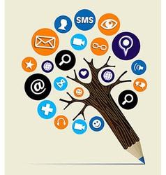 Marketing web concept pencil tree vector