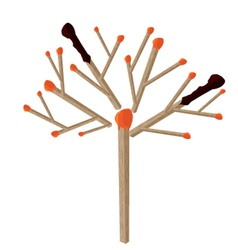 Matchstick tree vector