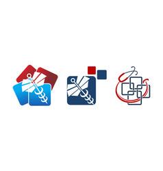 Medical app billing set vector