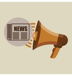 megaphone concept news journal design vector image