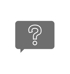 Message with question sign frequently asked vector