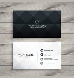 modern black and white business card design vector image
