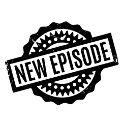 New Episode rubber stamp vector