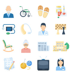nursing home care cartoon set vector image