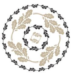 Oak leaf and acorn design leaf wreath vector