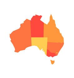 orange blank map of australia vector image