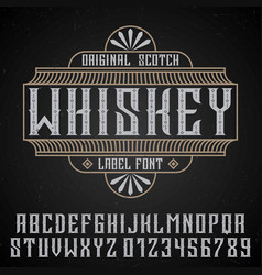 original whiskey poster vector image