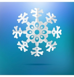 Paper christmas snowflake on a blue EPS8 vector image