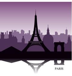 Paris cityscape vector