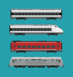 passenger trains vector image