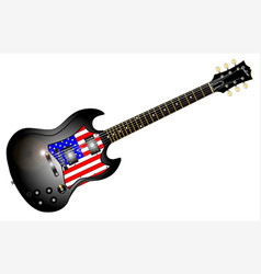 Patriotic guitar vector