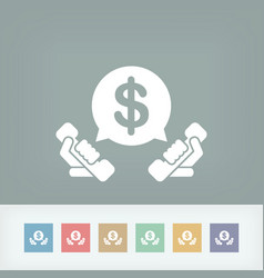 Phone and money vector