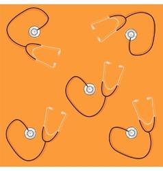 phonendoscopes on orange background vector image