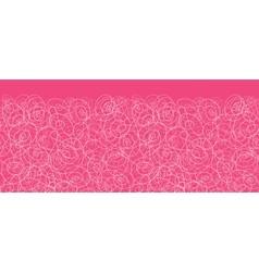 Pink swirl horizontal seamless pattern background vector image