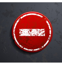 prohibitory road sign vector image