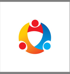 Round circle group logo vector