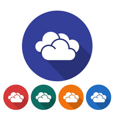 round icon of clouds cloudy weather flat style vector image