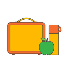 School lunch boxes vector