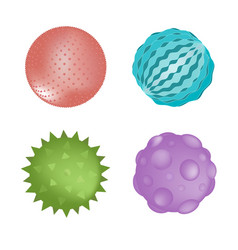 Sensory ball set different colors and textures vector