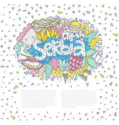 Serbia concept vector