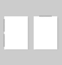 set realistic notepad eps 10 vector image