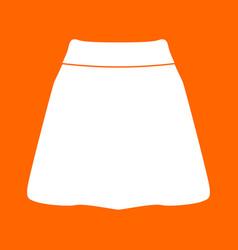 Skirt white icon vector