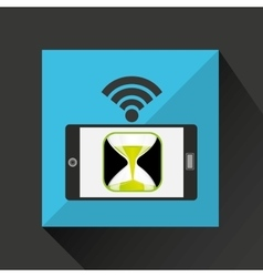 Smartphone countown clock internet wifi icon vector