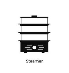steamer simple icon kitchen appliance isolated on vector image