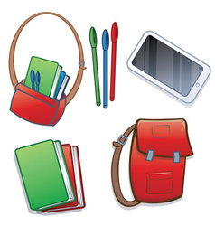 Student school or college items vector