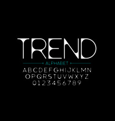 thin modern style font vector image