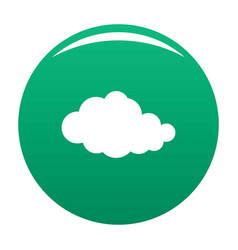 Translucent cloud icon green vector