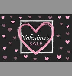 Valentines day sale background holiday black and vector