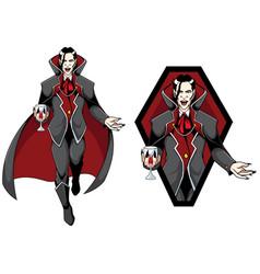 Vampire count mascot vector