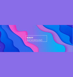 Wavy style banner with space for template vector