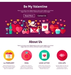 Web Design Be My Valentine vector