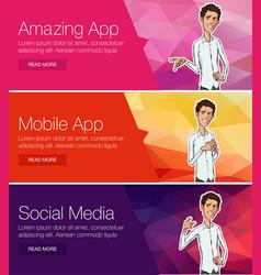 Website headers promotion banners vector