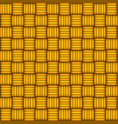 Wicker seamless pattern yellow and orange vector