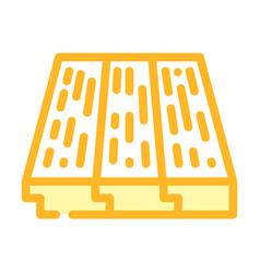 Wood layer floor color icon vector